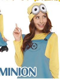 ハロウィン仮装  映画・USJでも好評!ミニオンのコスプレ・衣装は、子供から大人まで大人気!!