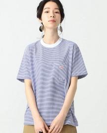 胸元の赤いブランドロゴが可愛いダントンのTシャツ(メンズ・レディース)。ビームス別注品も!